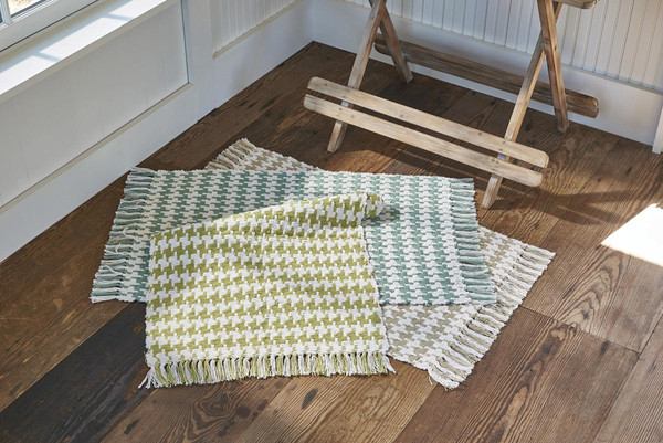 Houndstooth Cotton Rug 24 Quot X 42 Quot Flax Park Designs