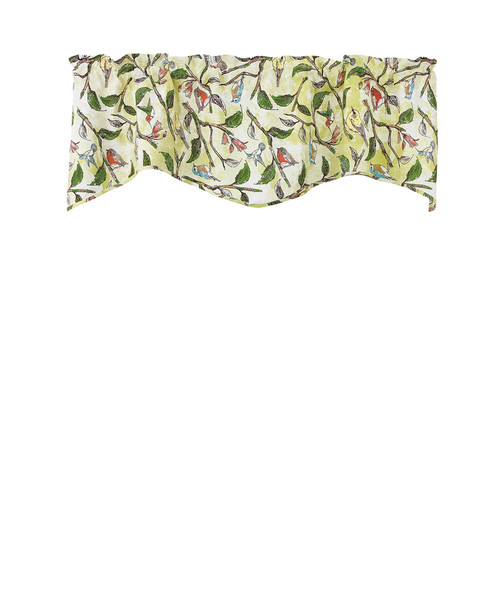 Bird Song Lined Wave Valance Park Designs