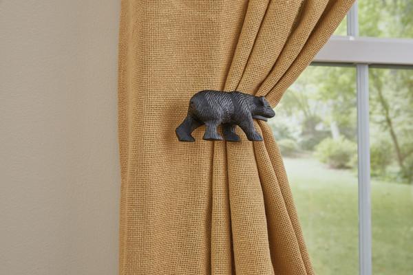 Black Bear Curtain Tie Backs Park Designs