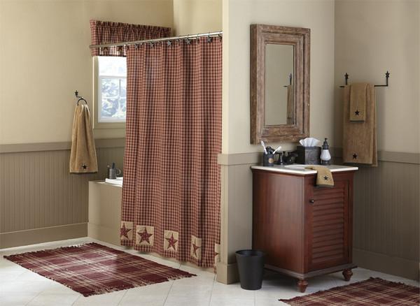 Sturbridge Patch Patch Shower Curtain Wine Park Designs