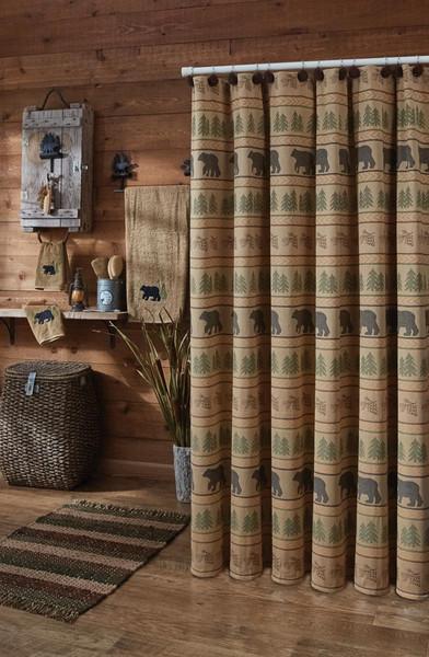 Bear Tracks Shower Curtain Park Designs