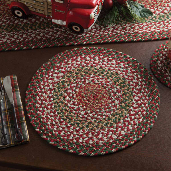 Holly Berry Braided Placemat Park Designs